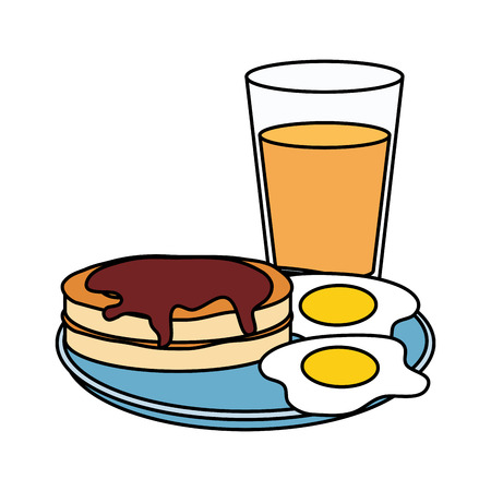 delicious breakfast menu icons vector illustration design Ilustração