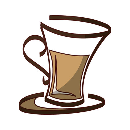 coffee cup drink isolated icon vector illustration design  イラスト・ベクター素材