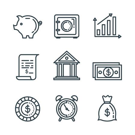set service tax report and finance balance vector illustration