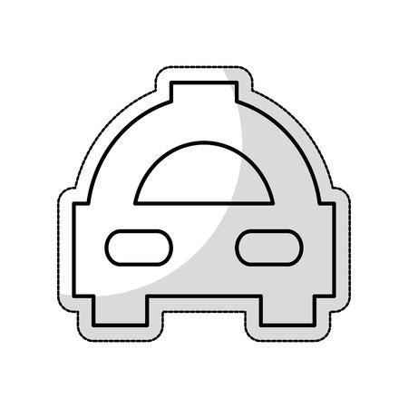 taxi car service isolated icon vector illustration design Foto de archivo - 123607128