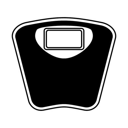 scale balance digital icon vector illustration design