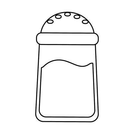 salt container food outline vector illustration design Illustration