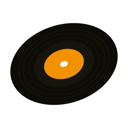 Vinylscheibe isoliert Symbol Vektor Illustration Design Vektorgrafik