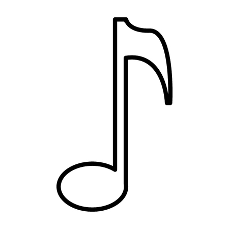 music note isolated icon vector illustration design Ilustração