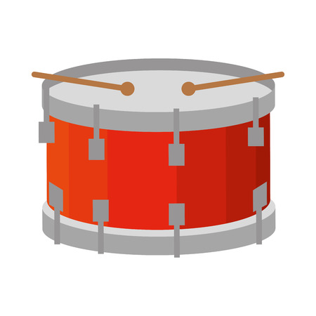 drum musical instrument icon vector illustration design Иллюстрация