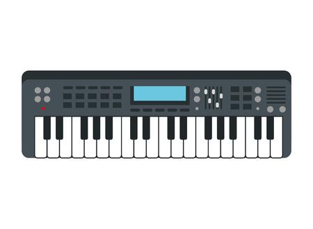 piano keyboard isolated icon vector illustration design Stock Illustratie