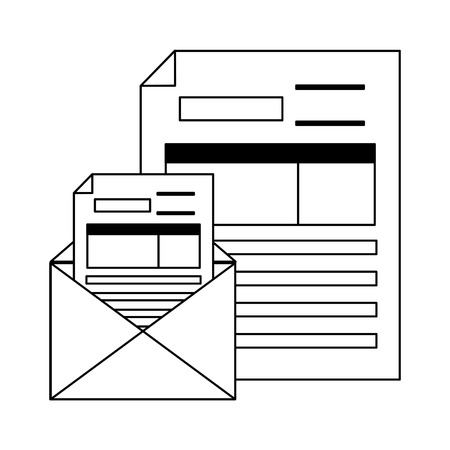 tax payment document mail paper vector illustration