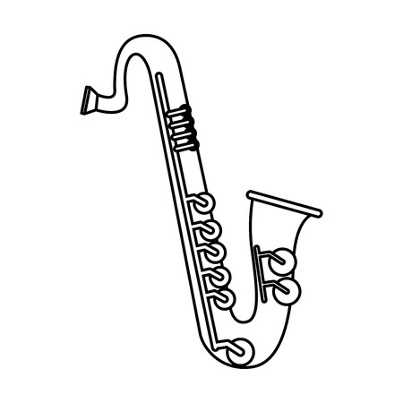 saxophone music instrument icon vector illustration design Archivio Fotografico - 123607422