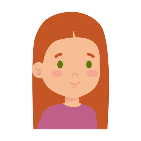 little girl kid character vector illustration design 일러스트