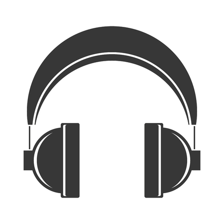 headphones audio device on white background vector illustration