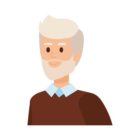 cute grandfather avatar character vector illustration design Фото со стока - 123607553