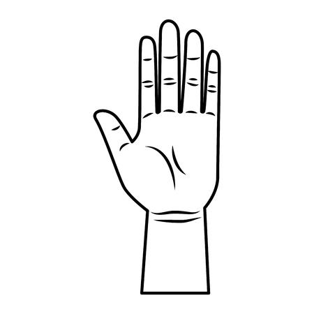 hand human stop icon vector illustration design