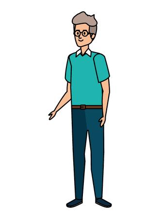 cute grandfather avatar character vector illustration design Фото со стока - 123607613