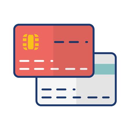 bank card credit debit online payment vector illustration
