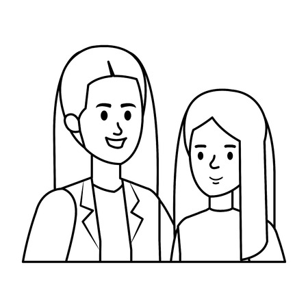 young mother with little daughter vector illustration design