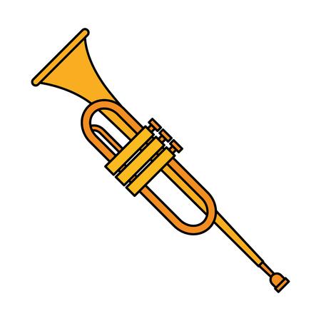 trumpet instrument music icon vector illustration design
