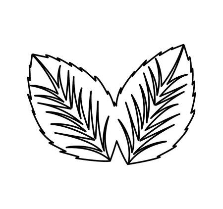 leafs plant spa isolated icon vector illustration design Illustration