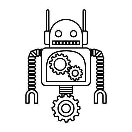 electric robot avatar character vector illustration design Foto de archivo - 123547633