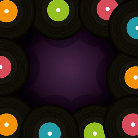 Vinylscheibe Muster Hintergrund Vektor Illustration Design