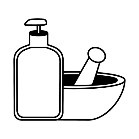 spa product bowl treatment vector illustration design