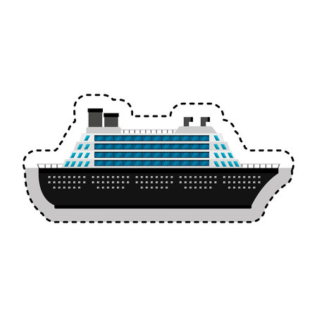 cruise boat isolated icon vector illustration design Stock Vector - 123547749