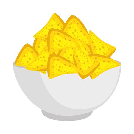 delicious nachos mexican food vector illustration design Vector Illustration