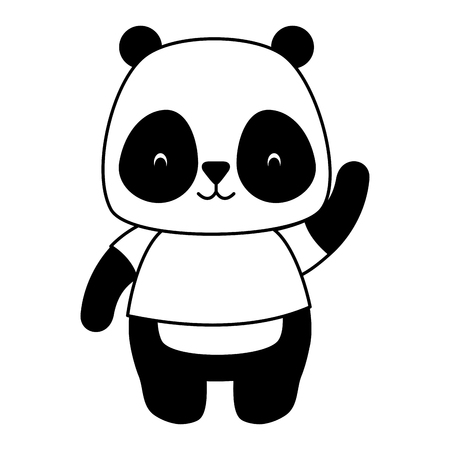 cute panda animal cartoon vector illustration design Standard-Bild - 120855828