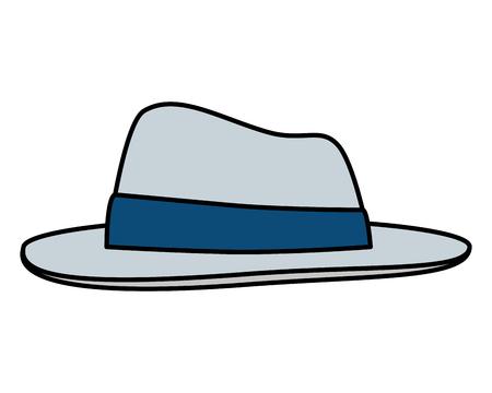 gentleman elegant hat accessory vector illustration design Illustration