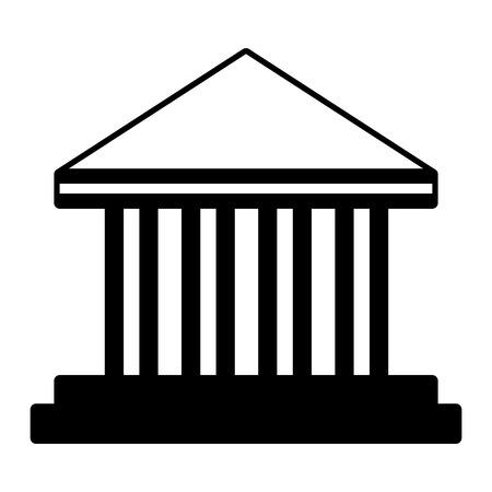bank money dollar on white background vector illustration