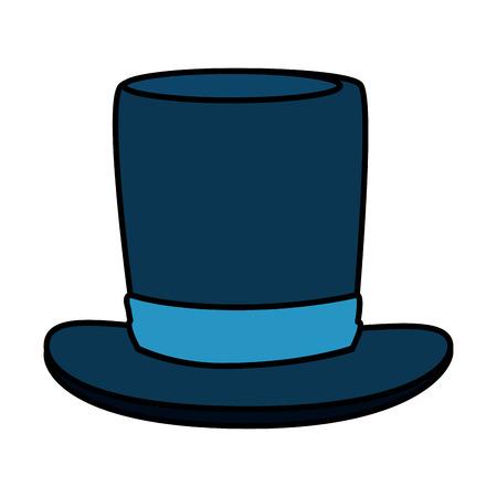 gentleman top hat accessory vector illustration design Illustration