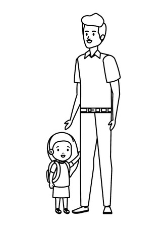 young father with son characters vector illustration design Standard-Bild - 123548235