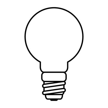 Diseño de ilustración de vector de icono de energía de bombilla de ahorro Ilustración de vector