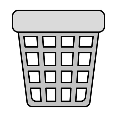 waste bin pot icon vector illustration design