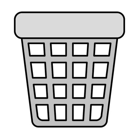 waste bin pot icon vector illustration design Banque d'images - 123553512
