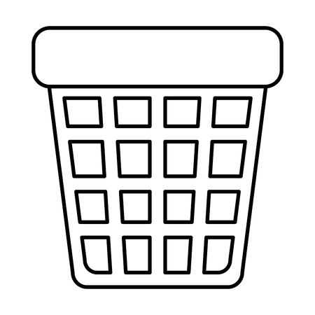 waste bin pot icon vector illustration design