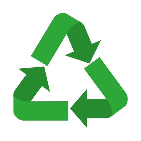 ricicli la progettazione dell'illustrazione di vettore dell'icona di simbolo delle frecce