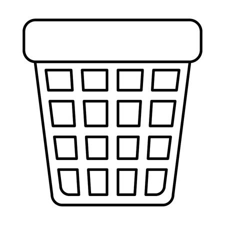 pattumiera, icona, vettore, illustrazione, design Vettoriali