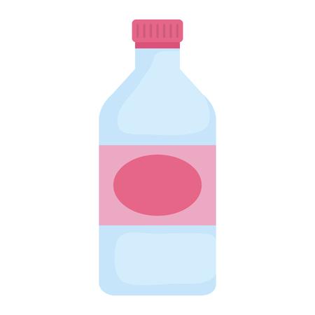 Verre bouteille isolé conception d'illustration vectorielle icône