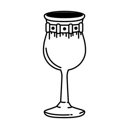 Metall Weinbecher Symbol Vektor Illustration Design