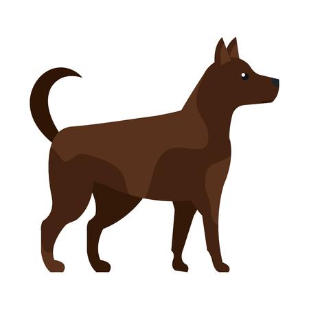 cute dog pet animal vector illustration design