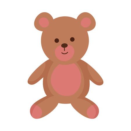 cute bear teddy icon vector illustration design Vektorgrafik