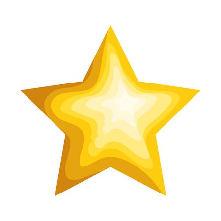 gwiazda dekoracyjna ikona na białym tle projekt ilustracji wektorowych