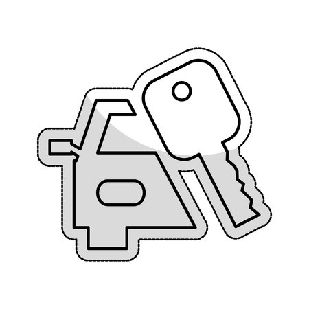 key car isolated icon vector illustration design Standard-Bild - 123475827