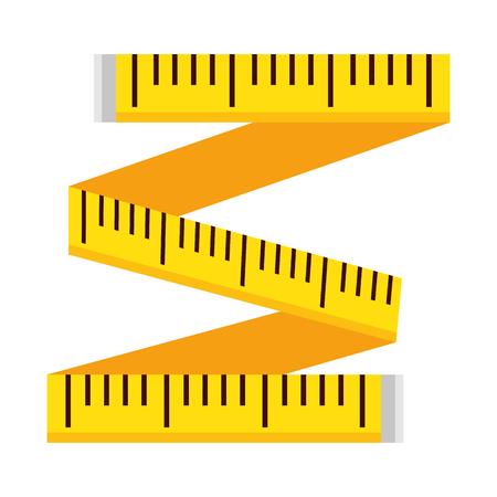 Cinta métrica, diseño de ilustraciones vectoriales icono aislado Ilustración de vector