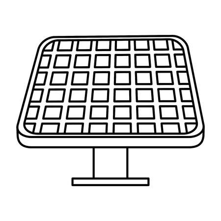 solar panel energy ecology vector illustration design Illustration