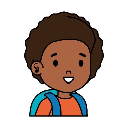 black little student boy vector illustration design