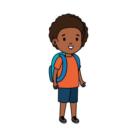 black little student boy vector illustration design Ilustração Vetorial