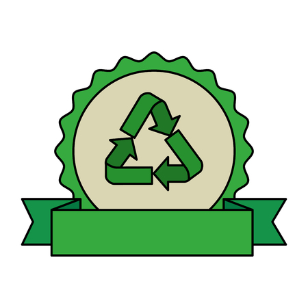 recycle arrows symbol icon vector illustration design Stock fotó - 121007276