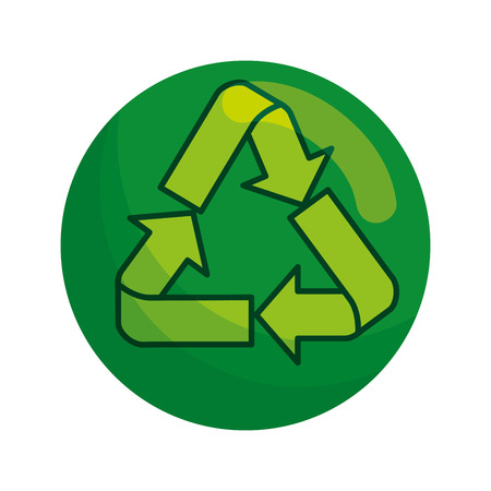 recycle arrows symbol icon vector illustration design Archivio Fotografico - 121007285