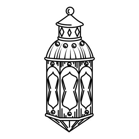 ramadam karem lamp hanging vector illustration design Ilustración de vector